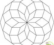 Coloriage et dessins gratuit Mandala géométrique Facile à imprimer