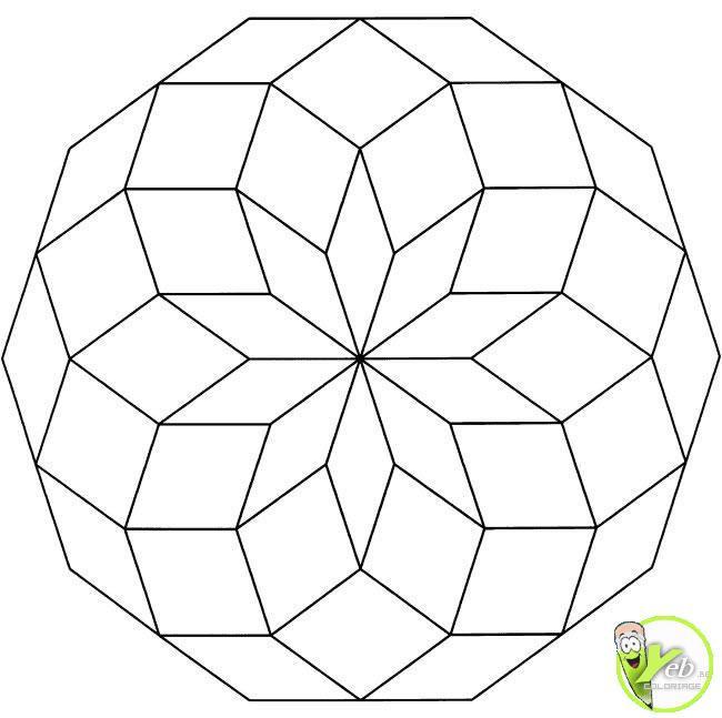 Coloriage et dessins gratuits Mandala géométrique Facile à imprimer