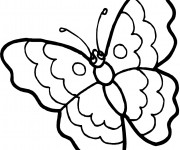 Coloriage Papillon stylisé  Facile