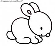 Coloriage et dessins gratuit Petit Lapin Mignon à imprimer