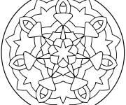 Coloriage petit mandala facile