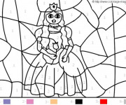 Coloriage Princesse magique Facile