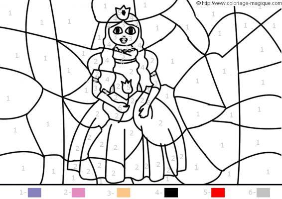 Coloriage et dessins gratuits Princesse magique Facile à imprimer