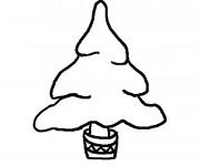Coloriage et dessins gratuit Sapin de Noel Facile à imprimer