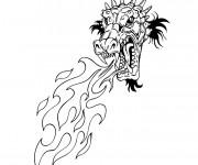 Coloriage et dessins gratuit Dragon chinois à colorier à imprimer