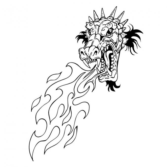 Coloriage Dragon Chinois à Colorier Dessin Gratuit à Imprimer