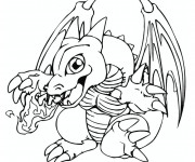 Coloriage Dragon feu Pokémon
