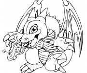 Coloriage et dessins gratuit Dragon feu Pokémon à imprimer