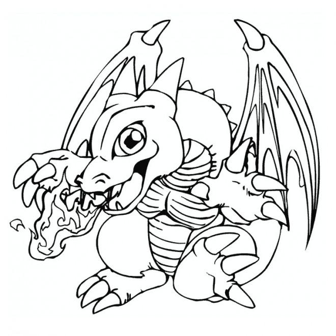 Coloriage dragon feu pok mon dessin gratuit imprimer - Dessins dragon ...