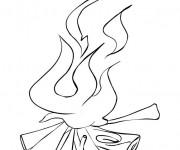 Coloriage et dessins gratuit Feu Bûches à imprimer
