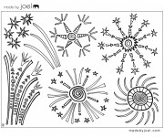 Coloriage et dessins gratuit Feu d'artifice à imprimer