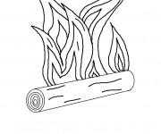 Coloriage et dessins gratuit Feu et Bois à imprimer