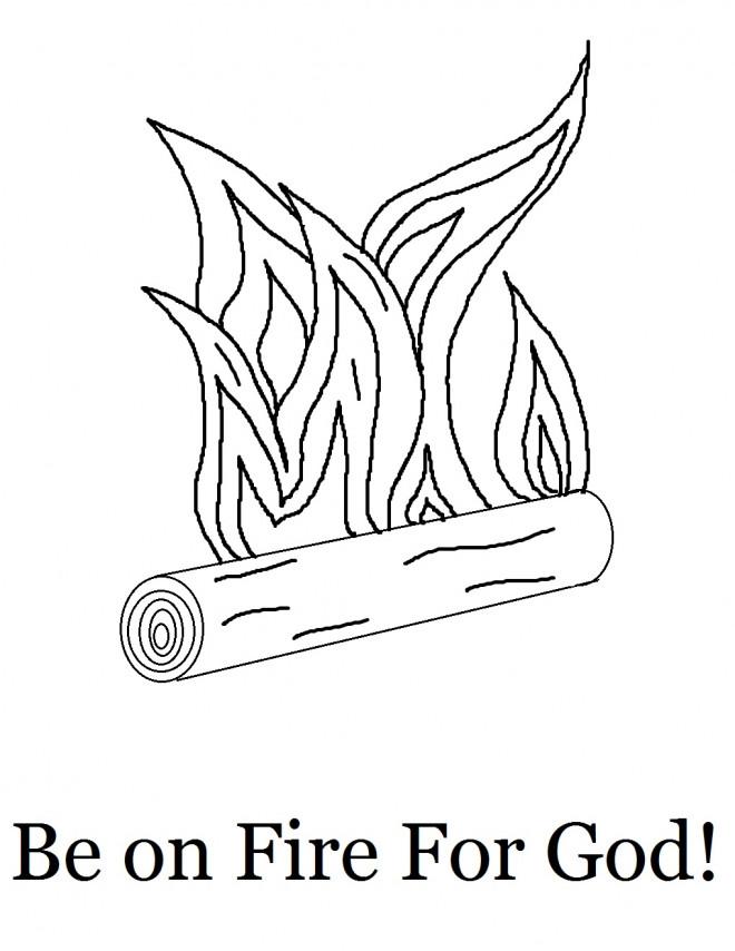 Coloriage et dessins gratuits Feu et Bois à imprimer