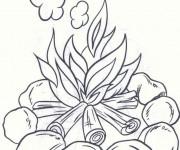 Coloriage et dessins gratuit Feu et fumée à imprimer