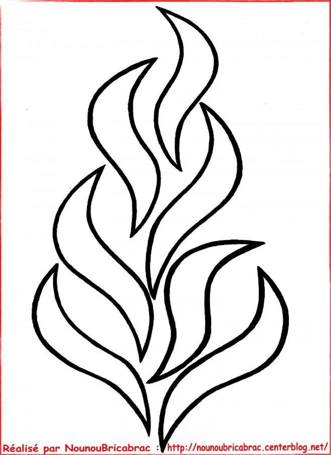 Coloriage et dessins gratuits Feu maternelle à imprimer