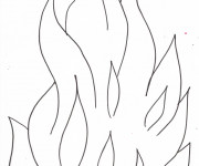Coloriage Flamme