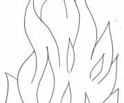Coloriage et dessins gratuit Flamme à imprimer