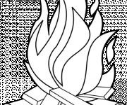Coloriage Flamme de Feu