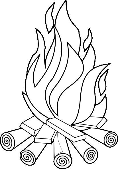 Coloriage et dessins gratuits Flamme de Feu à imprimer