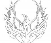 Coloriage et dessins gratuit Phénix l'oiseau de feu à imprimer