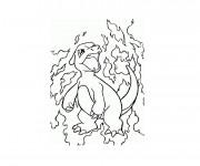 Coloriage Pokémon de Feu