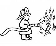 Coloriage Pompier 37