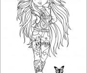 Coloriage et dessins gratuit Ado dessin animé à imprimer