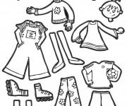 Coloriage et dessins gratuit Des vêtements d'enfants à imprimer