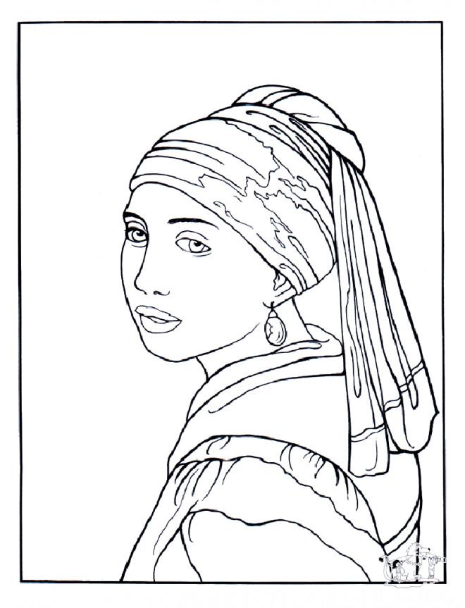 Coloriage et dessins gratuits Femme maternelle à imprimer