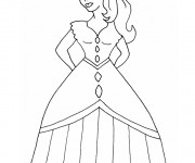Coloriage Fille 1