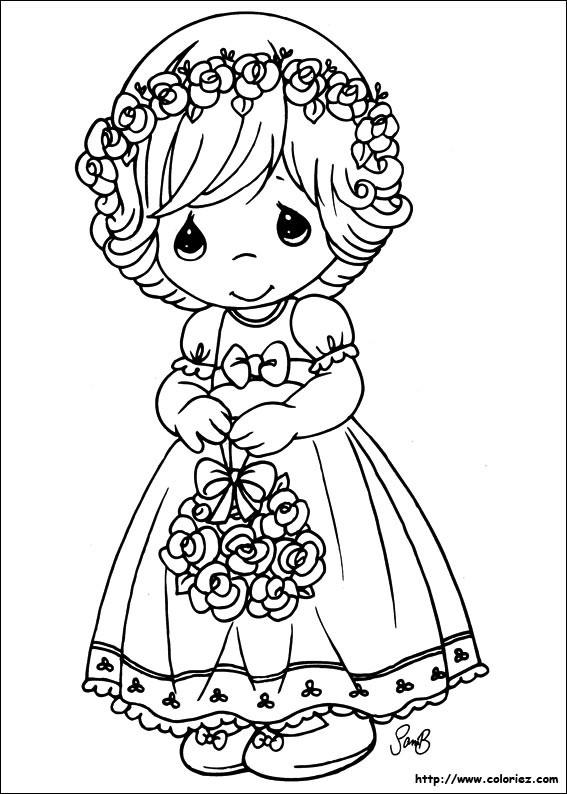 Coloriage et dessins gratuits Fille 5 ans innocente à imprimer