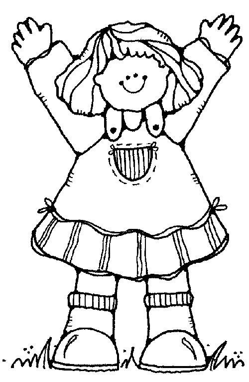 Coloriage et dessins gratuits Fille 6 ans heureuse à imprimer
