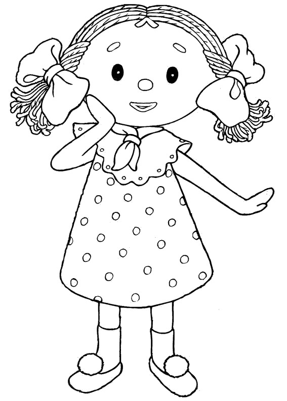 Coloriage Fille 6 ans marrante dessin gratuit à imprimer