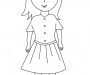 Coloriage Fille
