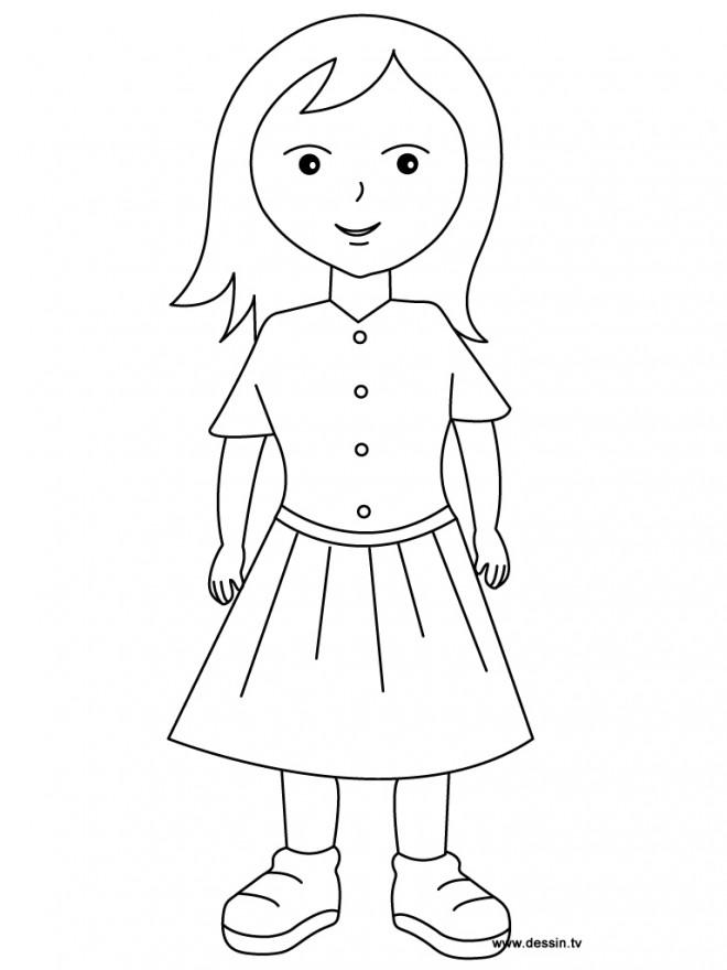 Coloriage et dessins gratuits Fille Ado à imprimer