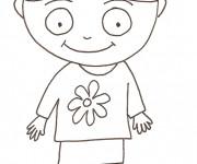Coloriage et dessins gratuit Fille au crayon à imprimer