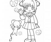Coloriage et dessins gratuit Fille Dessin animé à imprimer