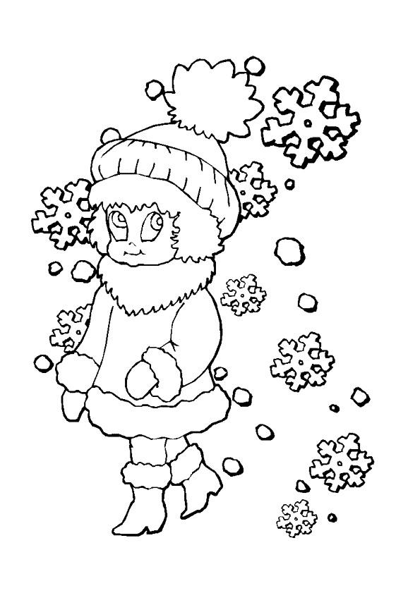 Coloriage et dessins gratuits Fille en Noel à imprimer