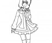 Coloriage dessin  Fille Manga 49