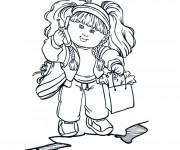 Coloriage et dessins gratuit Fille mignonne à imprimer