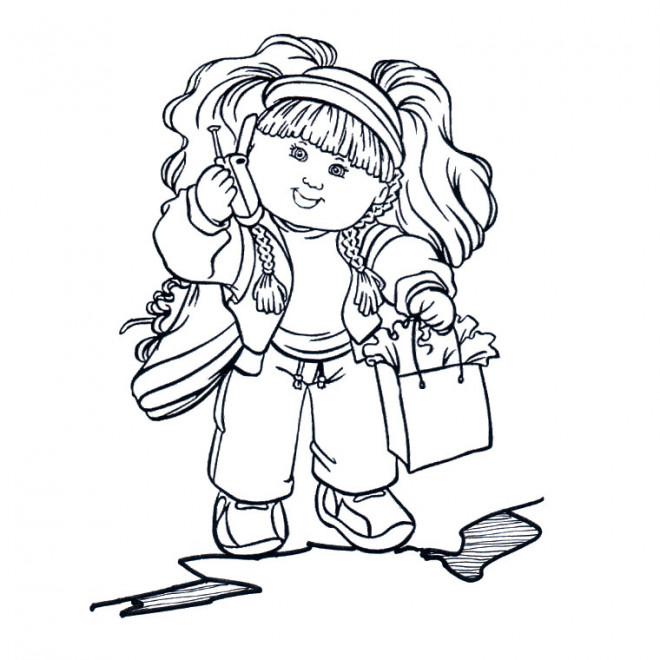 Coloriage et dessins gratuits Fille mignonne à imprimer