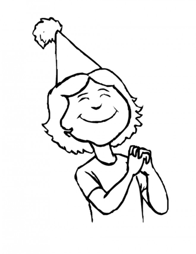 Coloriage et dessins gratuits Fille porte un chapeau à imprimer