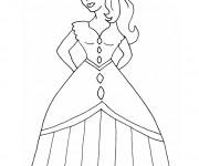Coloriage et dessins gratuit Fille princesse à imprimer