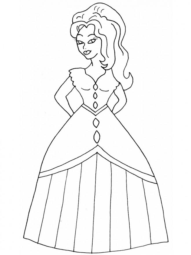 Coloriage et dessins gratuits Fille princesse à imprimer