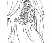 Coloriage Fille Princesse Barbie