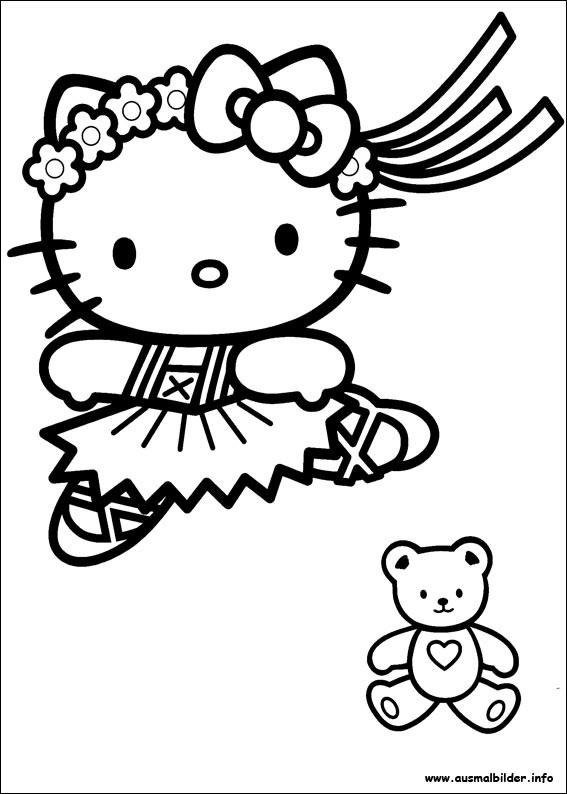 Coloriage et dessins gratuits Hello Kitty  en vecteur à imprimer
