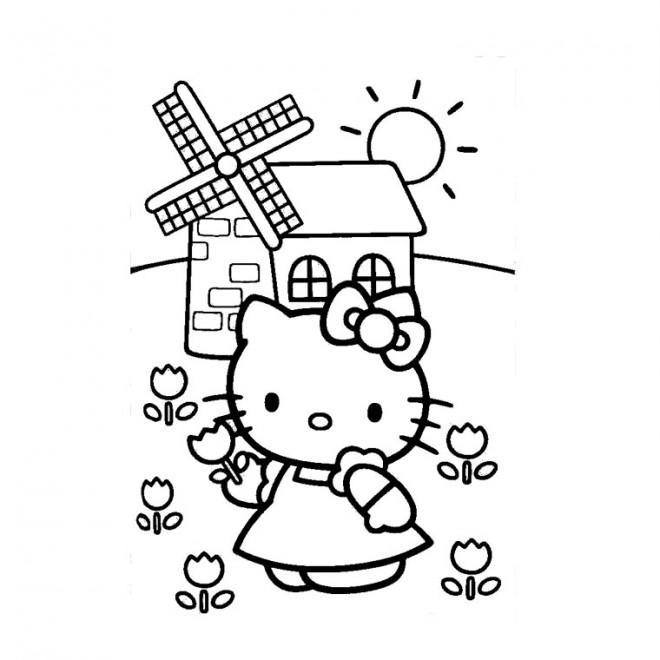 Coloriage et dessins gratuits Hello Kitty pour Fille à imprimer