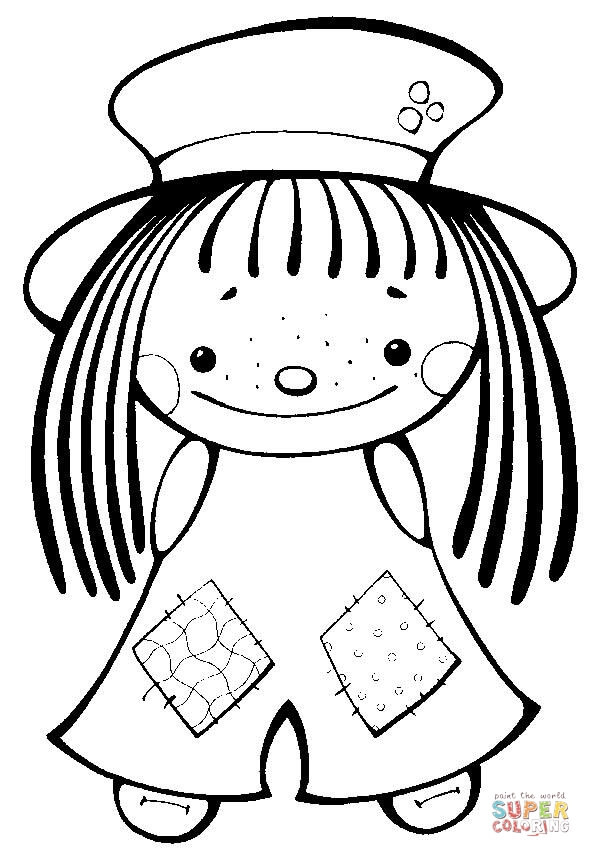 Coloriage et dessins gratuits Petite Fille innocente à imprimer
