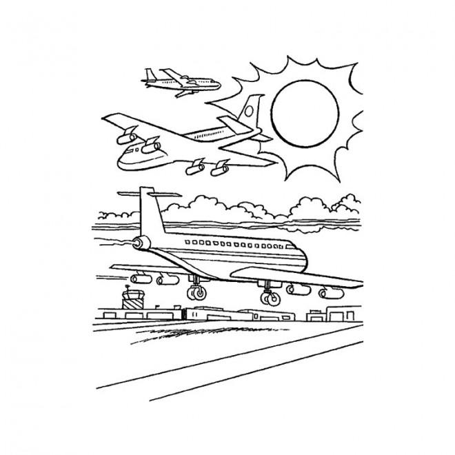 Coloriage et dessins gratuits Aéroport de Charles de Gaulle en France à imprimer