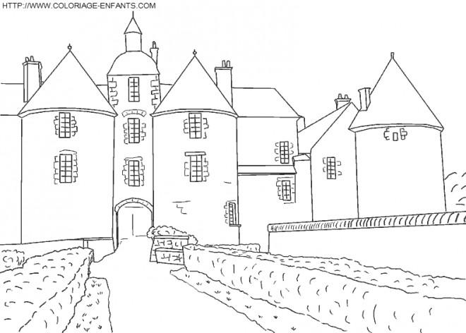 Coloriage et dessins gratuits Architecture en France à imprimer